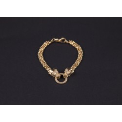 BRACCIALE DOUBLE DRAGON GOLD