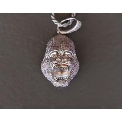 PINK Gorilla King Kong argento 925