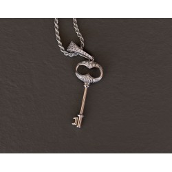 Key Chain Gold& Silver argento 925